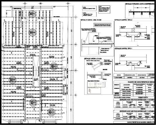 Proyecto de rehabilitación de caserío. Estructura mixta madera hormigón. Plano de forjado de planta tipo. | ISOSTATIKA