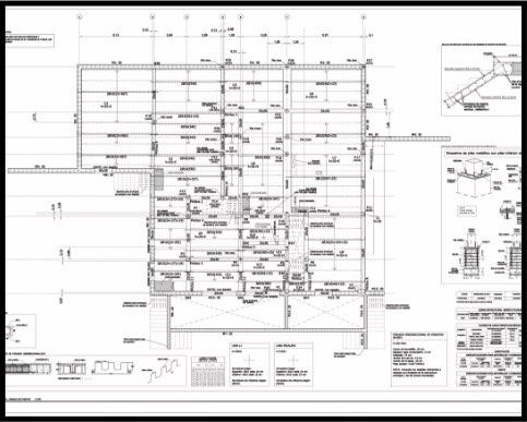 Proyecto de obra nueva residencial. Estructura de hormigón. Plano de planta baja - armados de positivo. | ISOSTATIKA