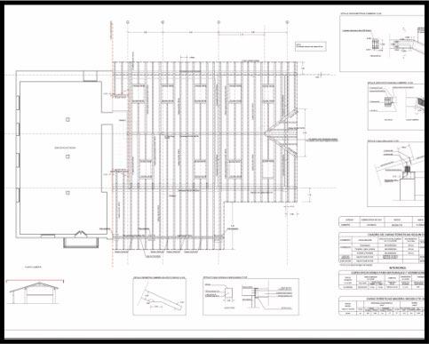 Proyecto de reforma de caserío. Estructura de madera. Plano de cubierta. | ISOSTATIKA